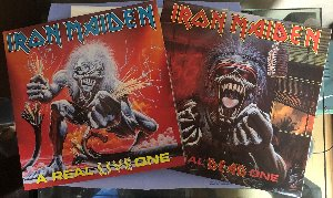 IRON MAIDEN - A REAL DEAD ONE / A REAL LIVE ONE (소형포스터/컬러해설지) 2LP