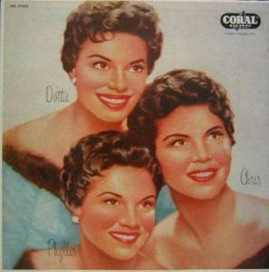 McGUIRE SISTERS - Chris, Phyllis And Dotte