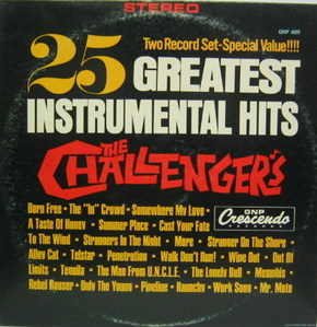 THE CHALLENGERS - 25 Greatest Instrumential Hits  (2LP)