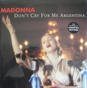 MADONNA - Don't Cry For Me Argentina (33 rpm)