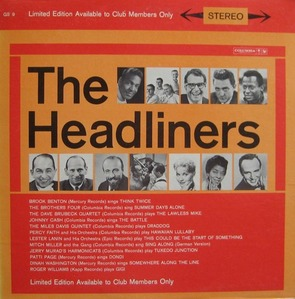 THE HEADLINERS  (Think Twice - Brook Benton)